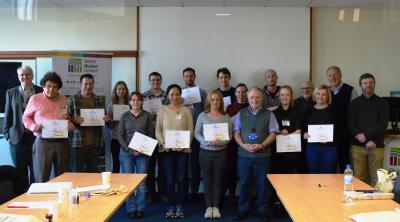Lipid course attendees with certificate